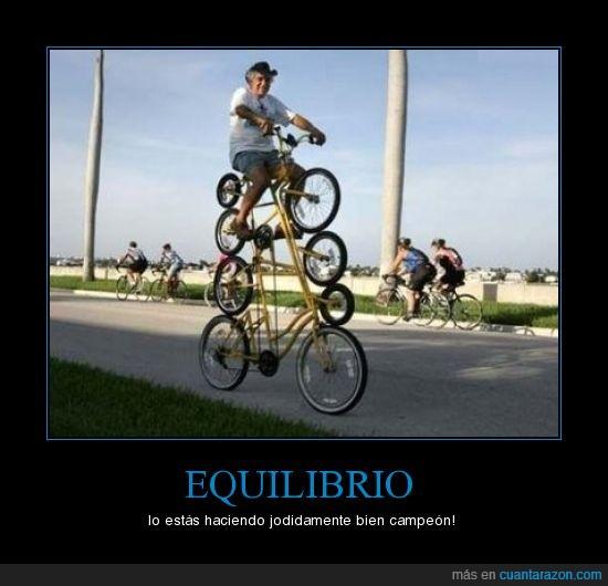 bicicletas,equilibrio
