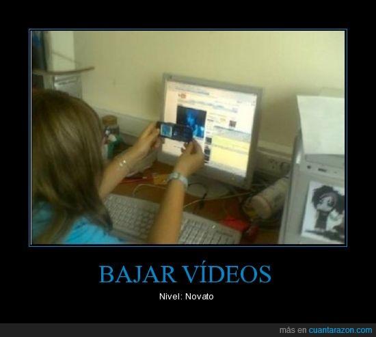 bajando,fail,novata,videos