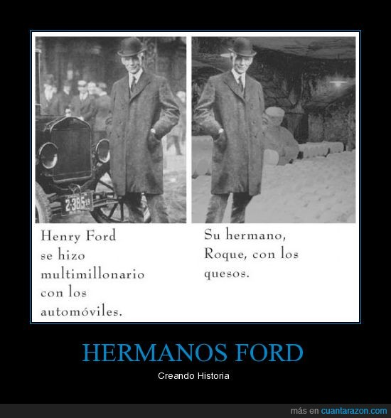 coches,Ford,hermanos,historia,queso