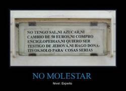 Enlace a NO MOLESTAR