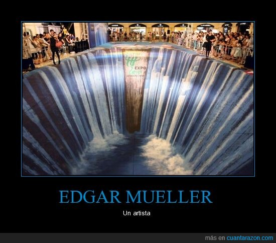 artista,Edgar mueller,efecto óptico,pintor