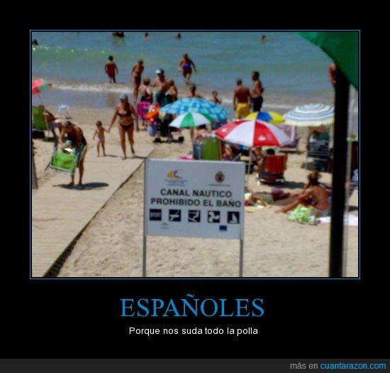 baño,Españoles,ni caso,prohibición