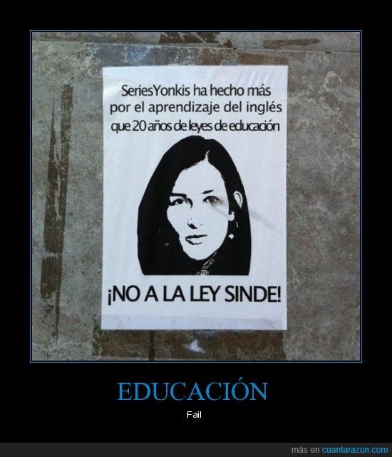 educación,inglés,ley sinde