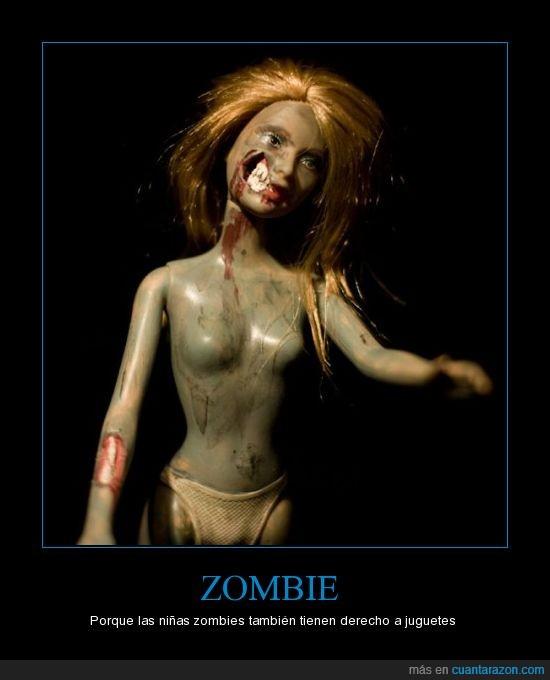 barbie,juguetes,niñas,zombie,zombies