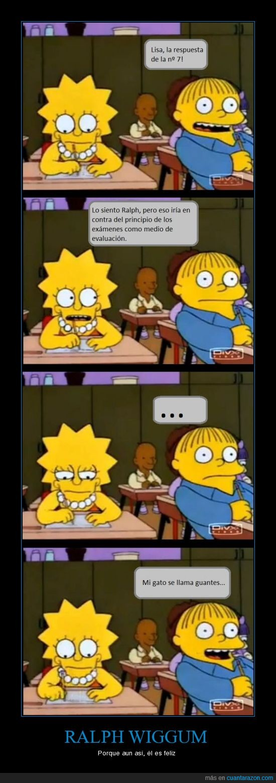 copiar,examen,lisa,Ralph,simpsons,wiggum