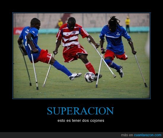 discapacitados,futbol,superacion