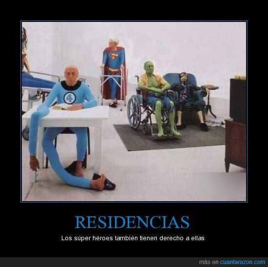 abuelos,residencia,superheroes,tercera edad