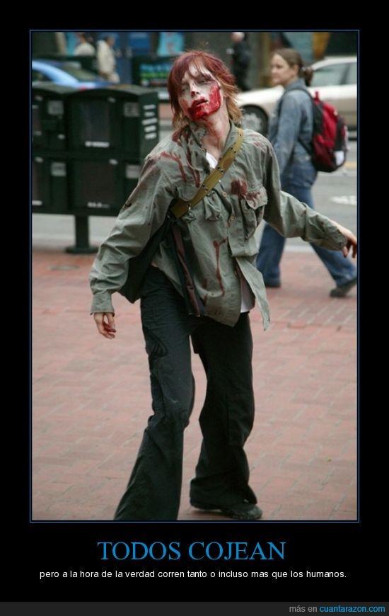cojear,correr,zombie