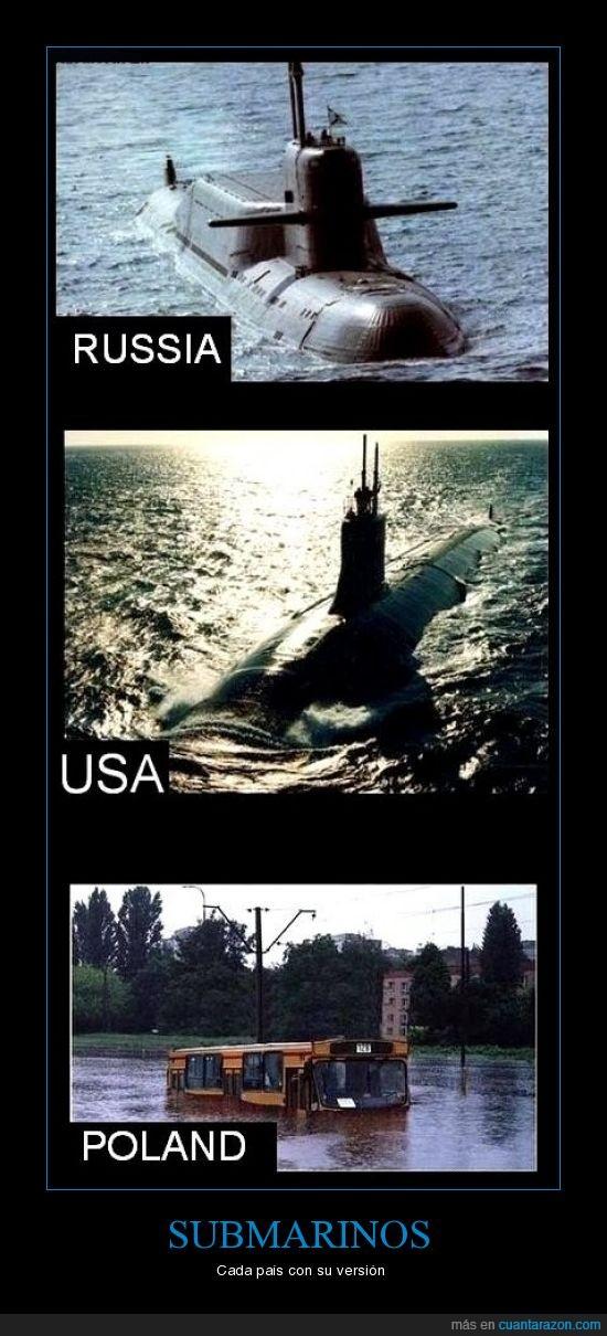 diferencias,polonia,rusia,submarinos,usa