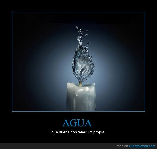 agua,luz,vela