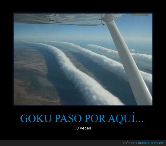 extraño,Goku,nube