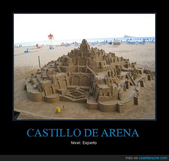castillo de arena,experto