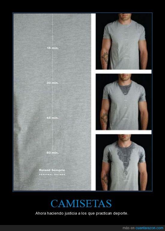 camisetas,nivel,sudor,tiempo