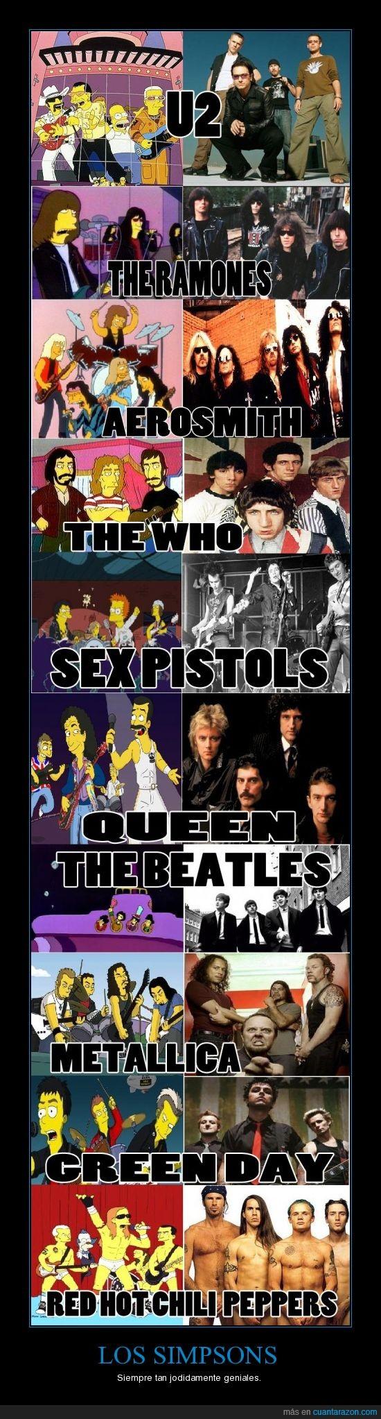 grupos,los,musica,rock,simpsons