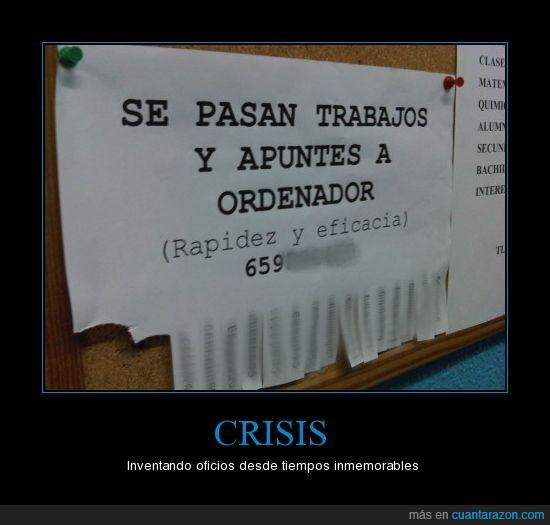 crisis,oficios