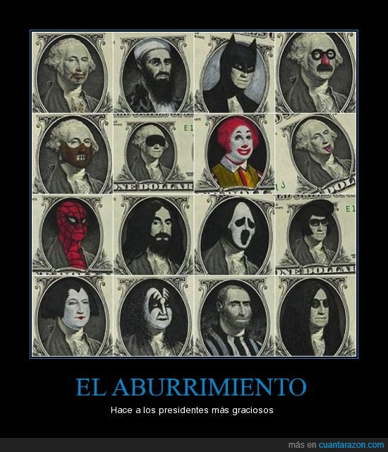 dinero,dolares,personajes,Presidentes