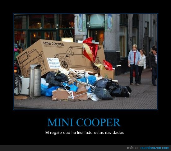 Coche,Cooper,Mini,Regalo