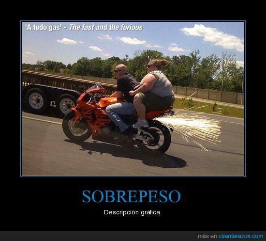 motos,sobrepeso