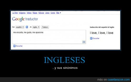 ingleses,sinónimos,traductor google