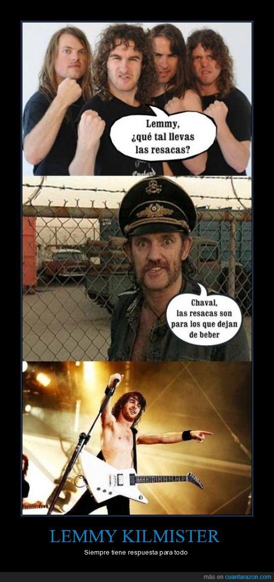 beber,Lemmy kilmister,resaca