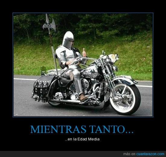caballero,edad media,medieval,moto