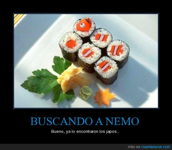 nemo,pez,sushi