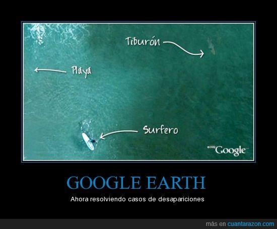 desaparecido,earth,google,surf,surfero,tiburón