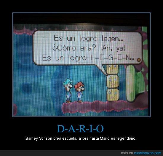 barney stinson,juego DS,legendario,mario