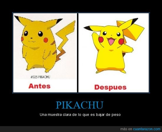 Dietas,Picachu,Pokemon