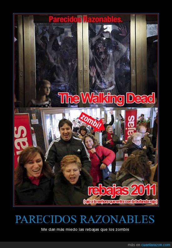 rebajas,walking dead,zombies
