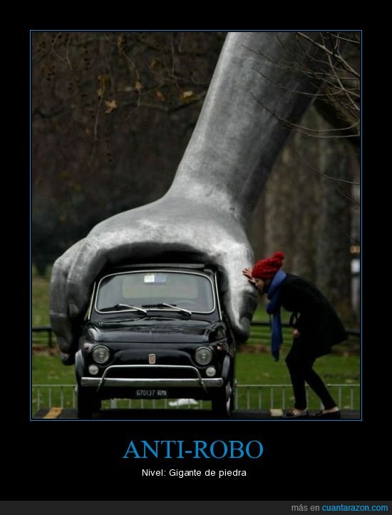anti,coche,gigante,piedra,robo