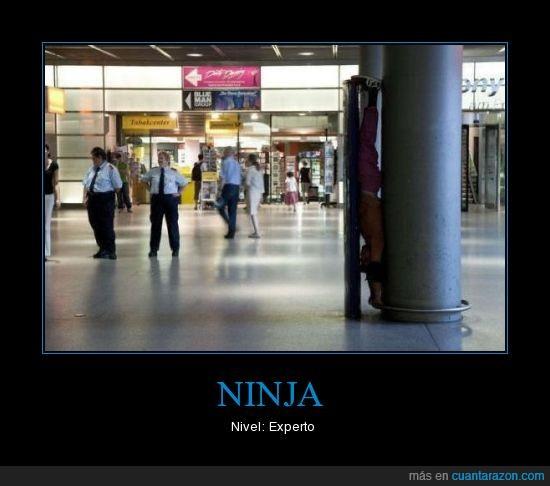 esconderse,ninja,pared,policia