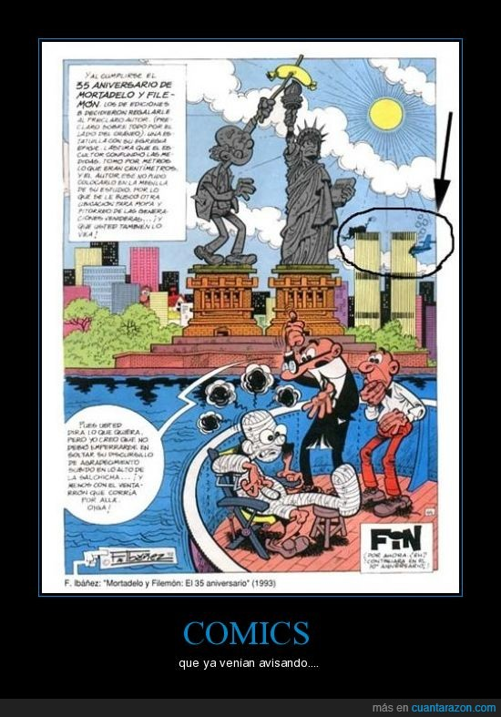 comic,filemón. torres gemelas,Ibañez,mortadelo,profecía