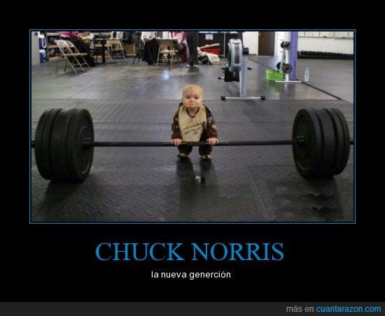 bebé,chuck norris,gimnasio,pequeño,pesas