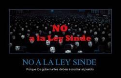 Enlace a NO A LA LEY SINDE