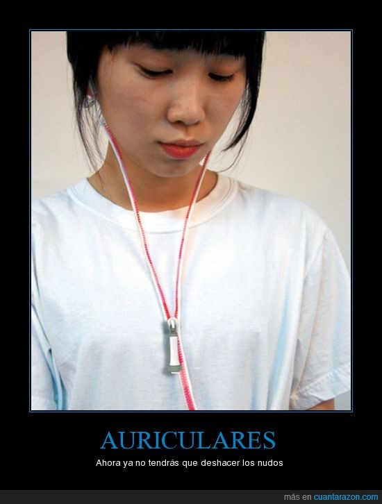 auriculares,cremallera