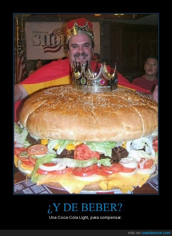 coca-cola,hamburguesa