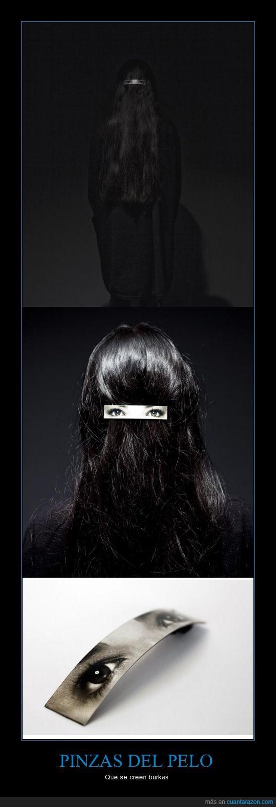 burka,pelo,pinza,simular