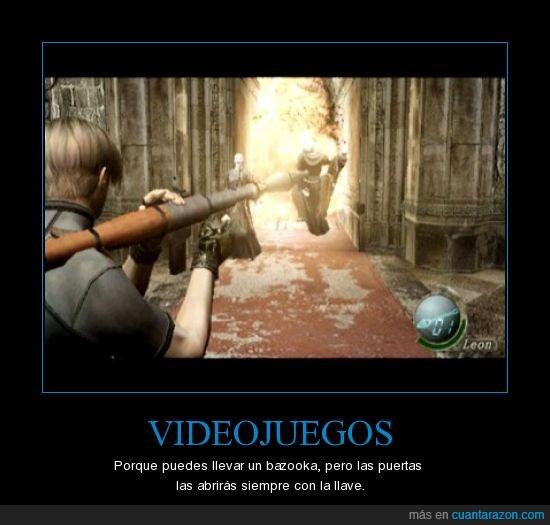 bazooka,falsedad,resident evil,videojuegos