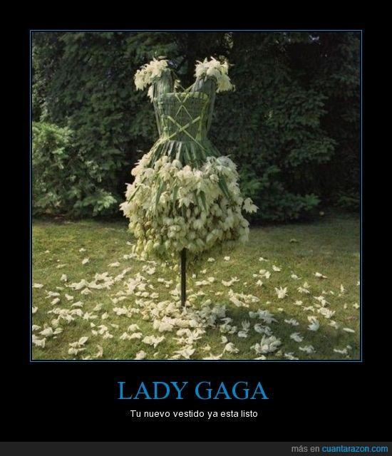 espantapájaros,gaga,lady,vestido