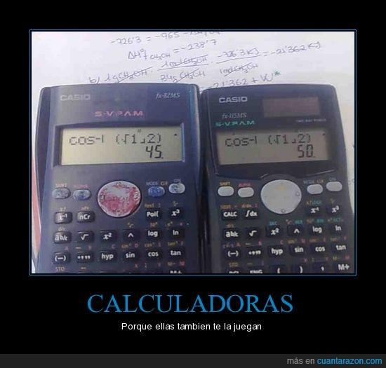 calculadoras,cálculo,error