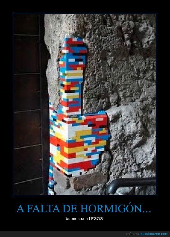 cemento,estructura,lego