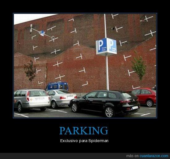 pared,parking,Spiderman,vertical