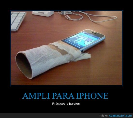 altavoz,ampli,amplificador,iphone,papel de water,singlamour