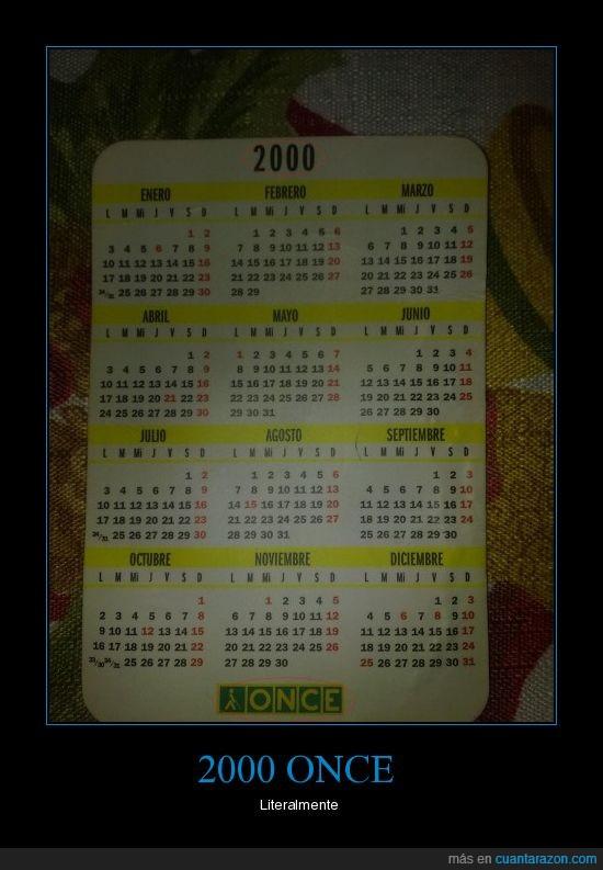 2000,2011,calendario,once