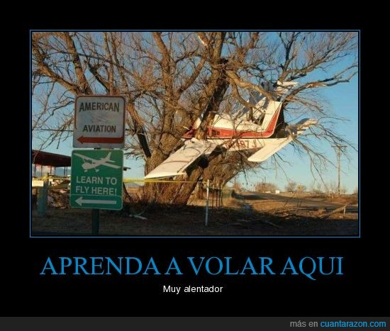 accidente,american,arbol,aviacion,aviation,avion,cartel,escuela,fly,here,hostion,learn,piña,porrazo,to,vuelo