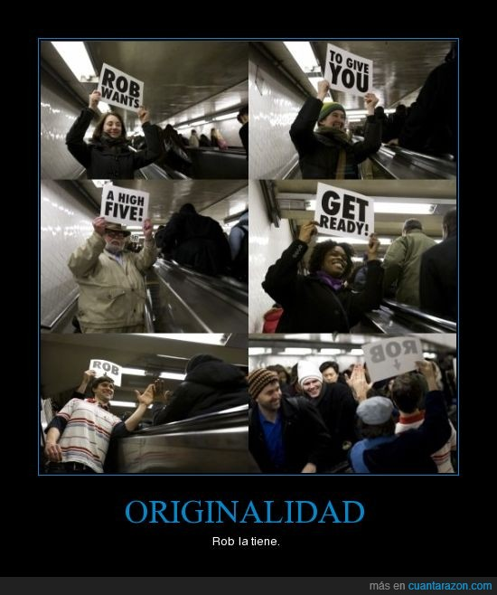 epic win,escaleras,hi5,letreros,metro,originalidad,rob,win