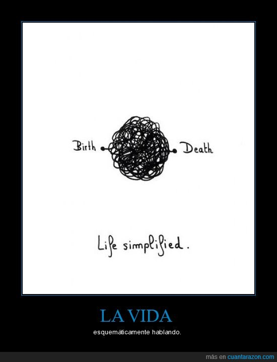 esquema,simple,vida