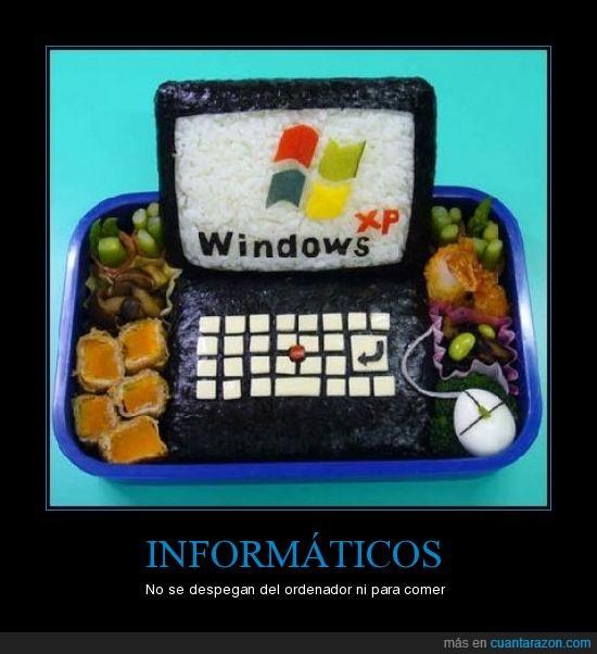 comida,friki,informáticos,ordenador,windows