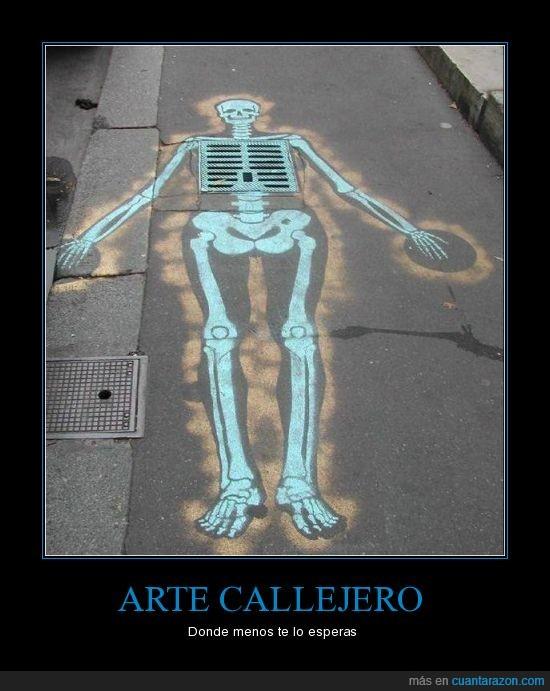 arte,callejero,esqueleto